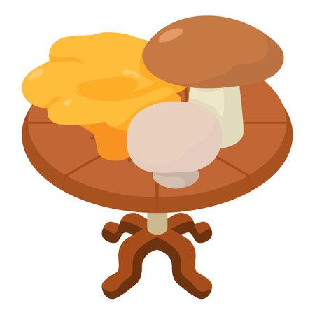 Mushroom icon. Isometric illustration of mushroom vector icon for web