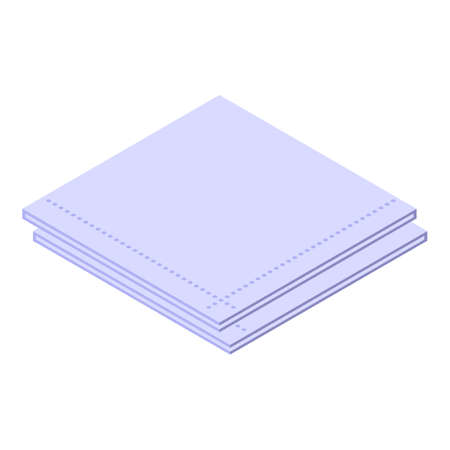 Cleaning handkerchief icon. Isometric of Cleaning handkerchief vector icon for web design isolated on white background