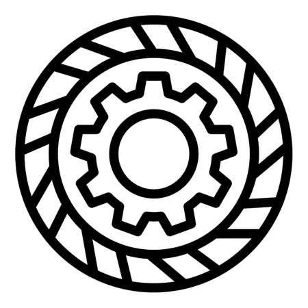 Repair car clutch icon. Outline Repair car clutch vector icon for web design isolated on white background