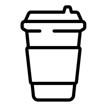 Coffee takeaway icon. Outline Coffee takeaway vector icon for web design isolated on white background