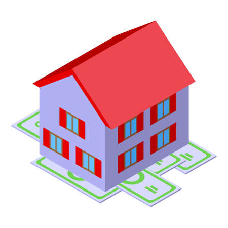 Home purchase history icon. Isometric of Home purchase history vector icon for web design isolated on white background
