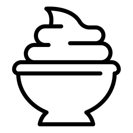 Wasabi paste icon. Outline Wasabi paste vector icon for web design isolated on white background Ilustração Vetorial