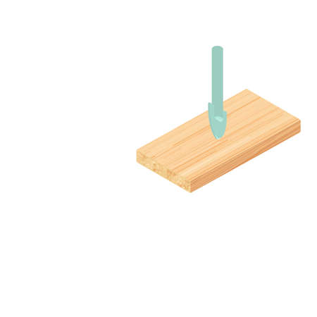 Glass drill icon. Isometric illustration of glass drill vector icon for web