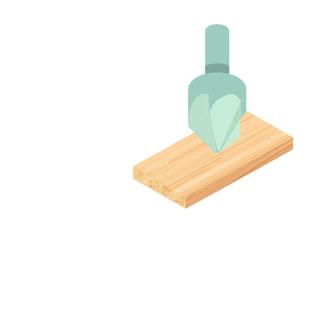 Countersink drill icon. Isometric illustration of countersink drill vector icon for web