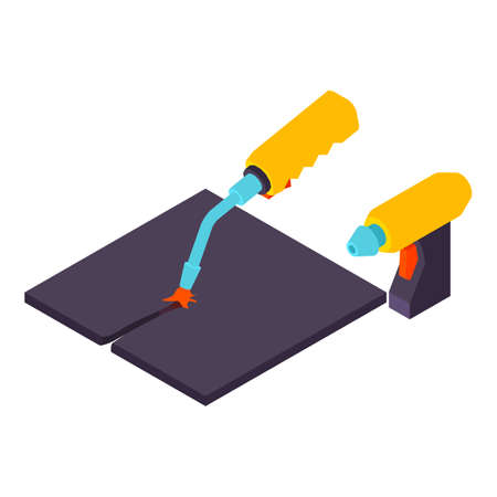 Metal cutting icon. Isometric illustration of metal cutting vector icon for web