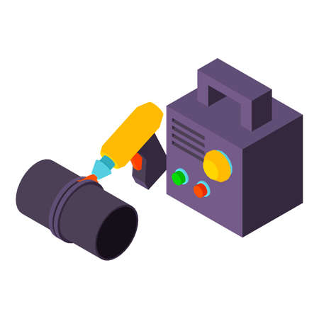 Pipe welding icon. Isometric illustration of pipe welding vector icon for web