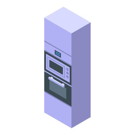 Kitchen wardrobe furniture icon. Isometric of Kitchen wardrobe furniture vector icon for web design isolated on white background