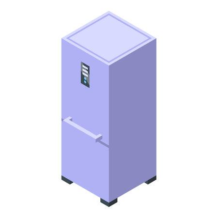 Kitchen modern fridge icon. Isometric of Kitchen modern fridge vector icon for web design isolated on white background Illustration