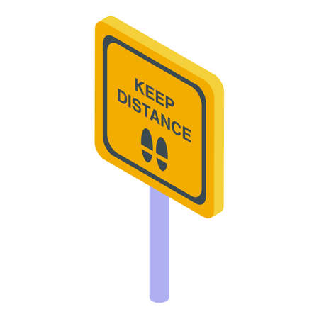 Sign keep distance icon. Isometric of Sign keep distance vector icon for web design isolated on white background