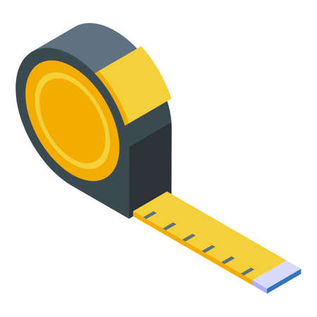 Measurement tape keep distance icon. Isometric of Measurement tape keep distance vector icon for web design isolated on white background