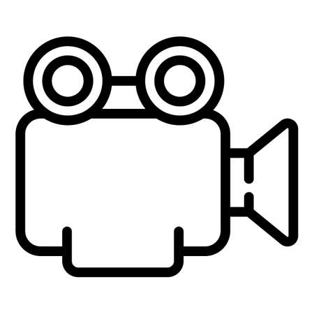 Video marketing icon. Outline Video marketing vector icon for web design isolated on white background