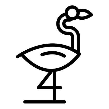 Egret flamingo icon. Outline Egret flamingo vector icon for web design isolated on white background