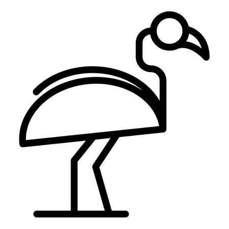 Lake flamingo icon. Outline Lake flamingo vector icon for web design isolated on white background Illustration