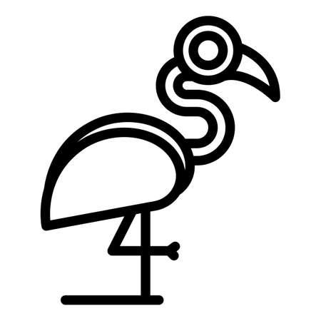Beautiful flamingo icon. Outline Beautiful flamingo vector icon for web design isolated on white background