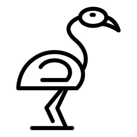 Africa flamingo icon. Outline Africa flamingo vector icon for web design isolated on white background Illustration