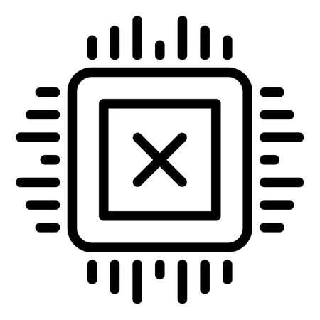 Api processor icon. Outline Api processor vector icon for web design isolated on white background Illustration