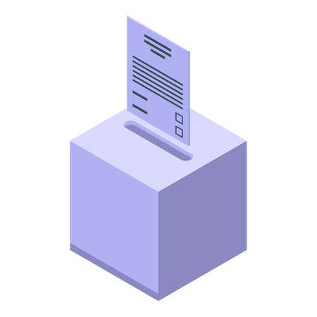 Democracy ballot box icon. Isometric of Democracy ballot box vector icon for web design isolated on white background