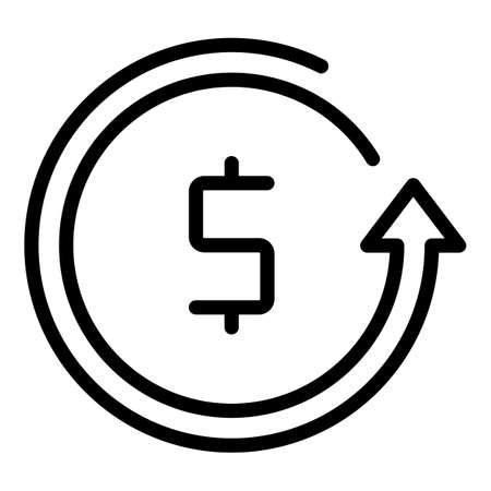 Usd currency icon. Outline Usd currency vector icon for web design isolated on white background
