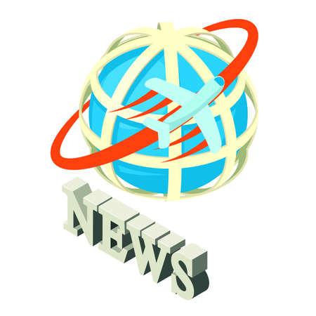 Worldwide news icon. Isometric illustration of worldwide news vector icon for web
