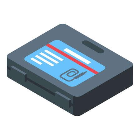 Endoscope box icon. Isometric of Endoscope box vector icon for web design isolated on white background