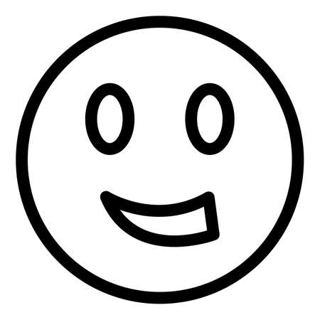 Smile face icon. Outline Smile face vector icon for web design isolated on white background