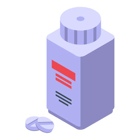 Arthritis pills jar icon. Isometric of Arthritis pills jar vector icon for web design isolated on white background