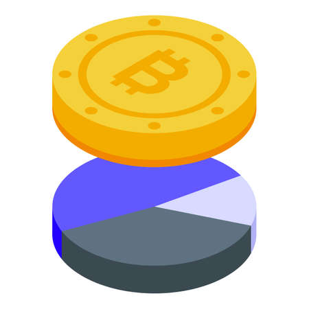 Bitcoin result money icon. Isometric of Bitcoin result money vector icon for web design isolated on white background