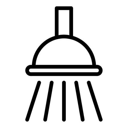 Shower head splashing icon. Outline Shower head splashing vector icon for web design isolated on white background Vektorové ilustrace