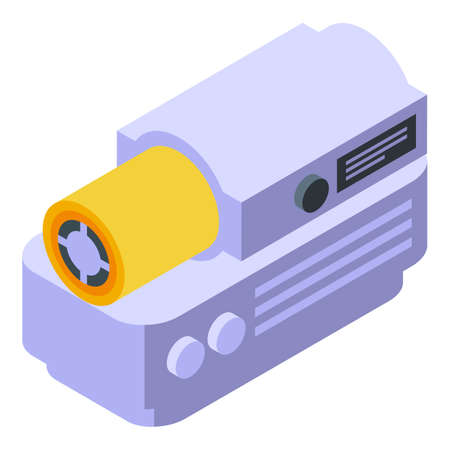 Heater icon isometric vector. Home electric. House heater