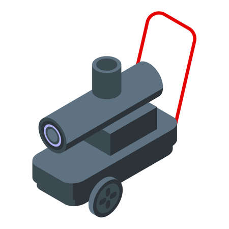 Garage heater icon isometric vector. Industrial heater. Solar factory