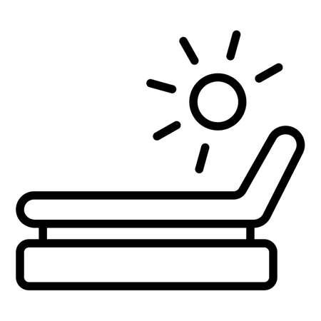 Deck chair icon outline vector. Beach longue. Summer sunbed Vecteurs