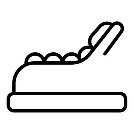 Relax wood chair icon outline vector. Deck bench. Longue deckchair Vecteurs