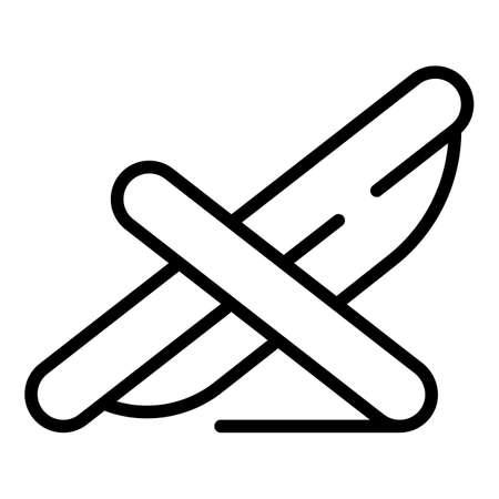 Deckchair icon outline vector. Relax chair. Longue chaise