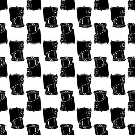 Kitchen cooker pattern seamless background texture repeat wallpaper geometric vector