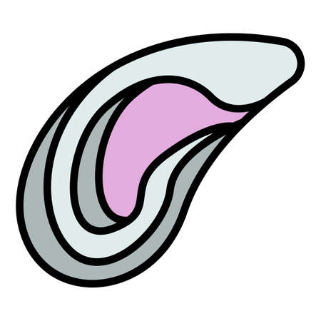 Mussels icon. Outline mussels vector icon color flat isolated Vektorové ilustrace