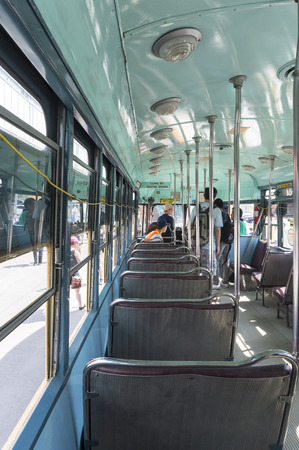 streetcar: Visitors to Leslie Barns TTC (Toronto Transit Commission) were touring the 1951 PCC vintage streetcar on Doors Open Toronto 2016.