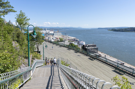 La Promenade des Gouverneurs boardwalk along St. Lawrence River, Quebec