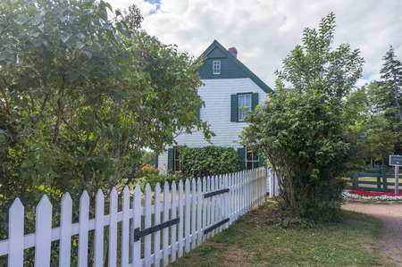 montgomery: The Green Gables is a 19th-century farm in Cavendish, Prince Edward Island, and is one of the most notable literary landmarks in Canada. The Green Gables farm and its surroundings are the setting for the popular Anne of Green Gables novels by Lucy Maud Mo