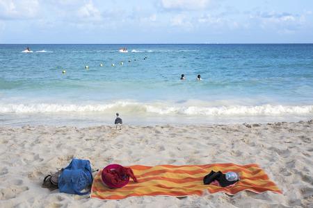 playa: Summer vacation at the tropical beach in Playa del Carmen, Mexico Stock Photo