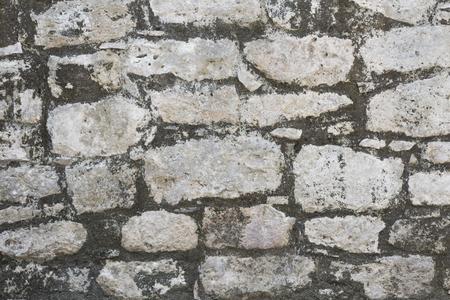 closeup of ancient stone wall texture of Mayan Coba Ruins, Mexico