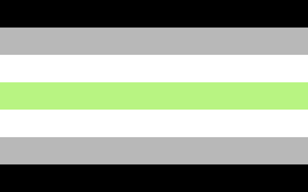 asexual: Agender pride flag. LGBT community flag.