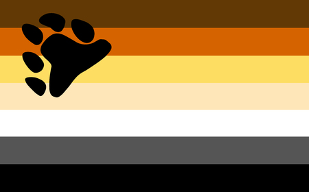 Gay bear pride flag. LGBT community flag.