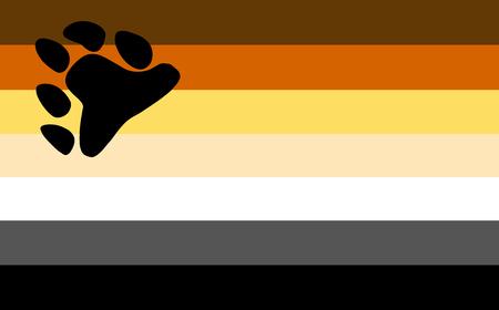 sexual orientation: Gay bear pride flag. LGBT community flag.