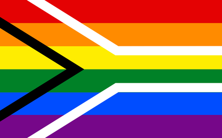 asexual: Gay pride flag of South Africa. LGBT community flag. Illustration