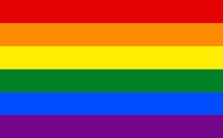 LGBT pride flag in vector format. LGBT community flag.