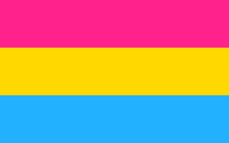 sexual orientation: Pansexual pride flag in vector format. LGBT community flag.