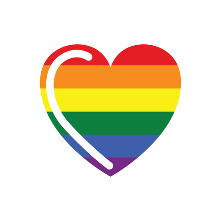 Vector Icon of Rainbow Heart