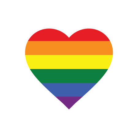 sexuality: Vector Icon of Rainbow Heart