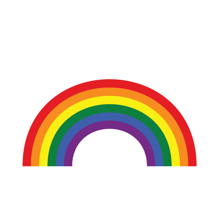 Rainbow icon flat. Homosexual minority concept icon. LGBT concept image. Illustration