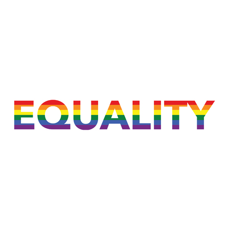 Equality: Rainbow color calligraphy Illustration